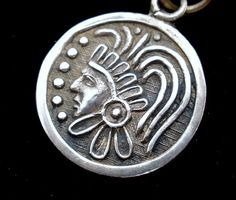 Vintage Warrior Charm Taxco Sterling Silver Pendant for Necklace Mexico Round | eBay