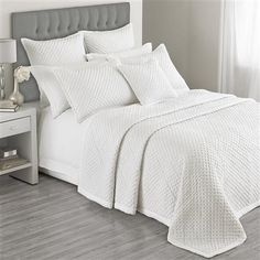 Exclusive to ACHICA Hotel Living Charroux 265 x 265cm Bedspread, White