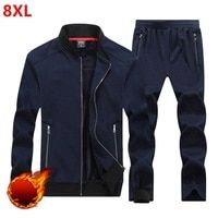 3b690f25506 Autumn and winter men s thickening men plus size 8XL loose and fat increase  code movement set