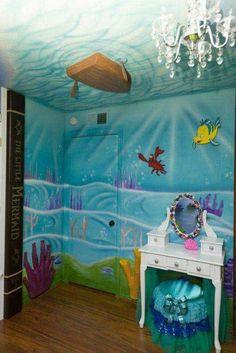 Gorgeous Little Girl Bedroom Ideas Mermaid Room Mermaid And with Stunning Bedroom Ideas For A Little Girl Little Mermaid Bedroom, Mermaid Room, The Little Mermaid, Mermaid Nursery Theme, Mermaid Bathroom, Mermaid Lagoon, Sea Bedrooms, Disney Bedrooms, Disney Princess Bedroom