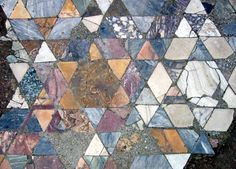 Not textile - but inspirational ! Marble floor with rhombic tiles in the ancient town of Herculanum in Italy.