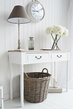 Shabby chic country living room. Decorate your home in our french style shabby chic white furniture