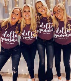 Custom Recruitment Shirts for Delta Gamma at Syracuse University Sorority Recruitment Shirts, Delta Gamma Shirts, Rho Gamma, Sorority Outfits, Delta Zeta, Kappa, Sorority Shirt Designs, Greek Shirts, Custom Greek Apparel