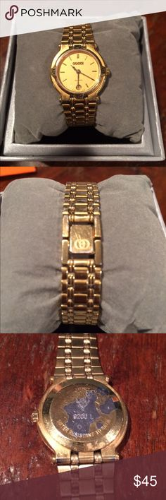 Gucci Women's Watch Gucci Women's Watch 9200L gold plated, 6 1/2 inch bracelet (for smaller wrists), no links included, very used condition but still has some life left, needs NEW battery, NO Gucci box or papers included Gucci Accessories Watches