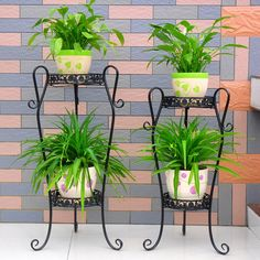 Fengxiang wrought iron flower pots stand floor- living -room balcony garden style multi-layered fashion to spend a few specials