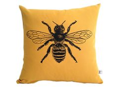 Bee Pillow  Honey Bee Decorative Pillow 16 by countercouturedesign, $36.00