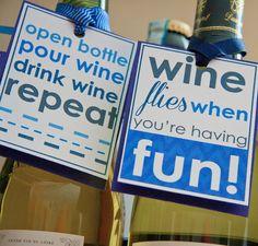 Printable Wine Gift Tags