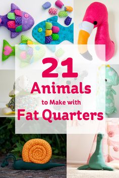 Inspired by the pretty and colourful fat quarters I have scoured the web for some fab projects, here are 21 of the best animal makes with fat quarters!