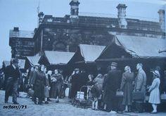 Burnley's old outdoor market.