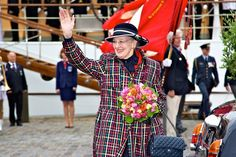 Queen Margrethe is happy to arrive in the city of Elsinore (Helsingør) after sailing from Copenhagen earlier in the day.