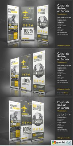 by Paulnomade in Templates Presentations Corporate Roll-up or Banner - Presentations - 1 Corporate Roll-up or Banner - Presentations - 1 Corporate Roll-up or Banner - Presentations - 2 Corporate Roll-up or Banner - Presentations - Banner. Tradeshow Banner Design, Rollup Design, Standing Banner Design, Standee Design, Banner Design Inspiration, Bunting Design, Trade Show Design, Rollup Banner, Retractable Banner