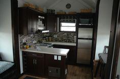 A charming 250 sq ft RV tiny house from Tiny Idahomes.