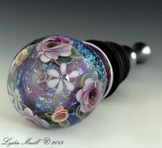 Unique hand crafted lampwork beads and quality art jewelry by North Carolina glass artist, Lydia Muell of Ashton Jewels. Purple Wine, Wine Bottle Stoppers, Lampwork Beads, Jewelry Art, Glass Art, Glass Beads, Jewels, Unique, Shop