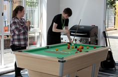 A game of pool certainly isn't a bad way to spend your breaks on the programme