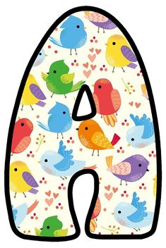 Free Printable Banner, Free Printables, Alfabeto Animal, Alphabet And Numbers, Pet Birds, Lily, Classroom, Kids Rugs, Stickers
