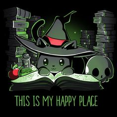 Halloween is my happy place. Halloween is my happy place. Cute Animal Drawings, Kawaii Drawings, Cute Drawings, Images Kawaii, Anime Pokemon, Nerdy Shirts, Animal Quotes, My Happy Place, Slytherin