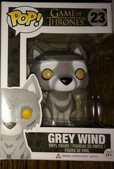 Funko Pop Grey Wind Direwolf Game Of Thrones Vinyl Figure
