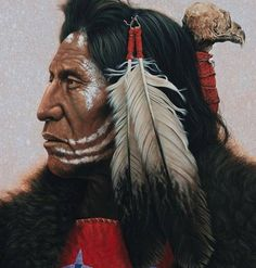 beautiful native american portrait paintings | Prafulla.net- Art - Native American Indian Portraits Paintings by Kirby Sattler ...