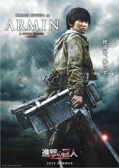 "Attack on Titan / Shingeki no Kyojin Live Action Cast: Kanata Hongo as Armin Artlet ""A Little Genius"""