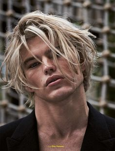 Jordan Barrett photographed by Mariano Vivanco and styled by Teddy Czopp, for the Fall/Winter 2016 cover story of Fucking Young! magazine.