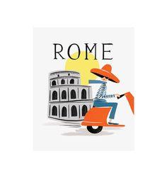 Rifle Paper Co. - Bon Voyage Rome - Illustrated Art Print