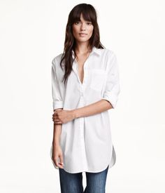 Long cotton shirt, lots of them because I think they would become a staple go-to for me too | H&M US