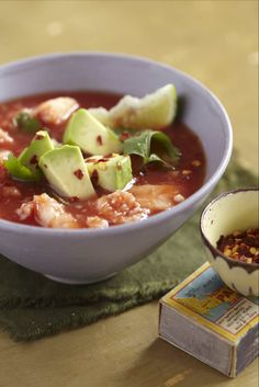 Sweet Paul's Mexican crab soup with avocado!