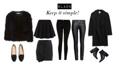 """""""all black"""" by fredrikapersson ❤ liked on Polyvore featuring Current/Elliott, Polo Ralph Lauren, H&M, Zara, Givenchy and Isabel Marant"""