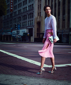 Baby pink no more: The most delicate hue gets a city-ready makeover just in time for spring.