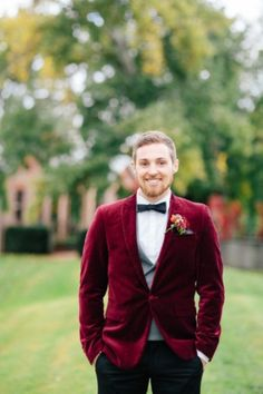Velvet Groom's Blazers And Costumes For A Winter Wedding