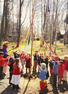 maypole dance on May 1st
