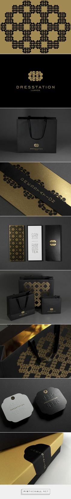 Dresstation Luanda branding packaging ID on Packaging Design Served curated by Packaging Diva PD. This is gorgeous packaging for a luxury brand in Luanda, Angola.