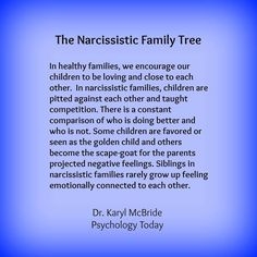 The narc family tree