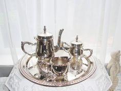 Godinger Silver Art Tea Set Victorian Style by RamblinRanch