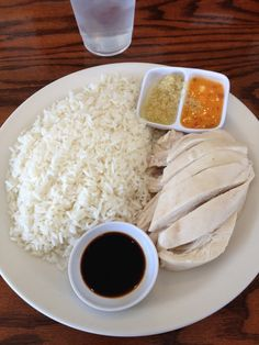 Savoy Kitchen, located in Alhambra. This hole-in-the-wall in Alhambra has developed a cult following for its Hainan chicken rice. The chicken portions are substantial with much more meat than bone, with chicken-broth rice with ginger and an orange hot sauce on the side. Everything about the dish is well worth the $6.95. Review at foodfinder.net