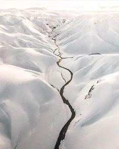 Winter solace, heli photo 🚁 by @benjaminhardman #everydayiceland