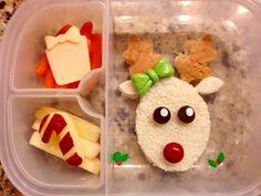 Girl Rudolph reindeer lunch bento