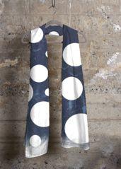 Virginia Wright Blue Polka Dot Scarf #polkadots #polkadotnavy #polkadotscarves #scarf