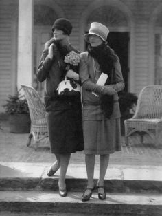 Two Models: the one at left in a wool suit by Molyneux; the one at right in a two-piece dress by Drecoll, 1926. Photograph by Edward Steichen.