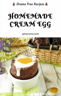 Supersize Creme Egg; gluten free, dairy free and vegan | Glutarama Gluten Free Desserts, Dairy Free Recipes, Delicious Desserts, Dessert Recipes, Yummy Recipes, Vegetarian Recipes, Mini Eggs Cookies, Dairy Free Diet, Desert Recipes