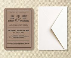 Printable Rustic Wedding Invitations by KitsonPress on Etsy, $30.00