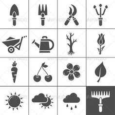 Gardening Icons — Transparent PNG #sprinkler #trowel • Available here → https://graphicriver.net/item/gardening-icons/4576742?ref=pxcr