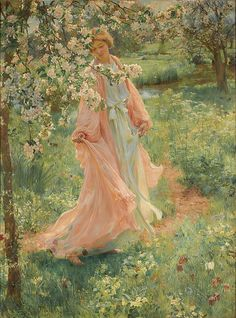 Herbert Arnould Olivier R., British artist, was born 9 September 1861 died 2 March England. He was a London based portrait and landscape painter who studied at the Royal Academy Schools. Images Esthétiques, Bel Art, Classical Art, Renaissance Art, Pretty Art, Beautiful Paintings, Aesthetic Art, Ethereal, Art Inspo