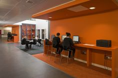 Mctc student lounge mixed seating library design Sheffield interior design companies