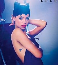 Rihanna's little gun tattoo on her side