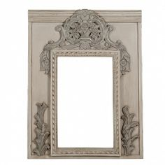 French provincial mirror with carved & painted surround - Trade Secret