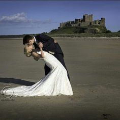The romance of Bamburgh Castle  and my delightful bride Racheal