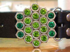 On sale now for St Patrick's Day OOAK Hex Nut Belt by gr8byz, $23.00