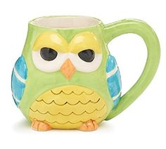 Whimsical Hootie Owl Coffee Mug/cup Adorable Kitchen Serveware