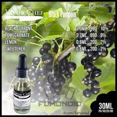 The Vapor Chef, Black Pompom Find All of these E-Liquids and more @ http://TeagardinsVapeShop.com or look for Teagardins Vape Shop in google play store today to get all the lates vape products right on your cell phone.